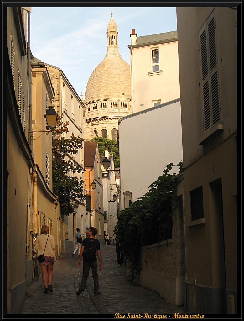 Rue Saint Rustique Montmartre Paris Se Promener Dans