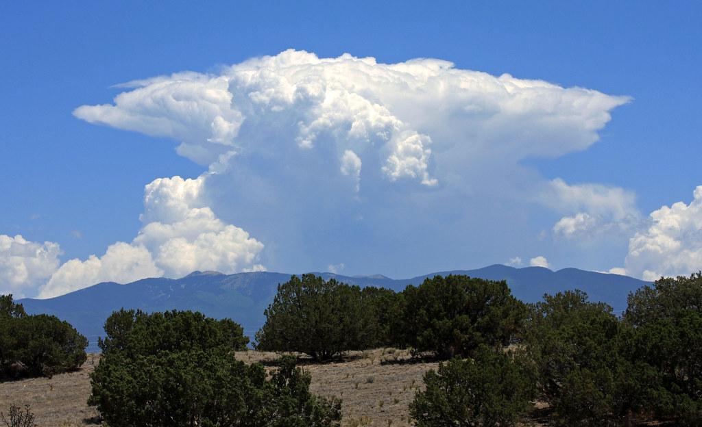 Cumulonimbus incus (anvil head) cloud | Over the Sangre de ...