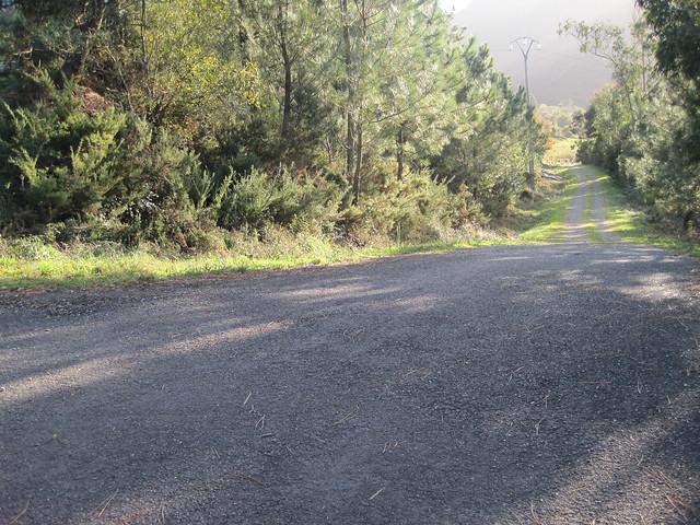Pista en la subida al monte Pindo