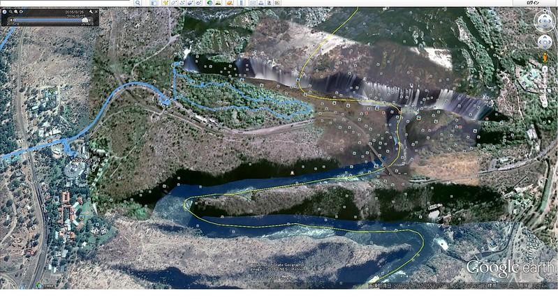 8-001-ビクトリア滝見物ルートbyGPS