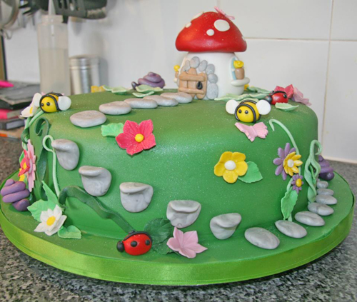 Fairy Garden Toadstool Cake Vegan cake dairy and egg