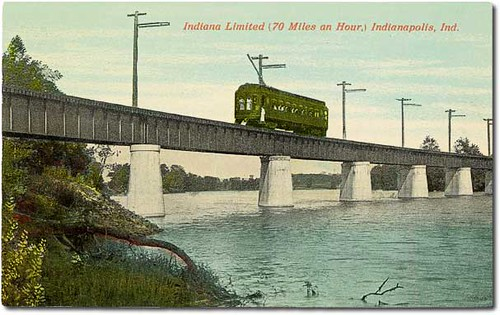 Indiana Limited interurban, Indianapolis, Indiana | by Hoosier Recollections