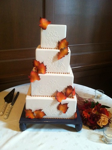 autumn square wedding cakes fall wedding cake april flickr 10897