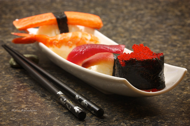32 365 red fish egg sushi flickr photo sharing for Fish eggs on sushi