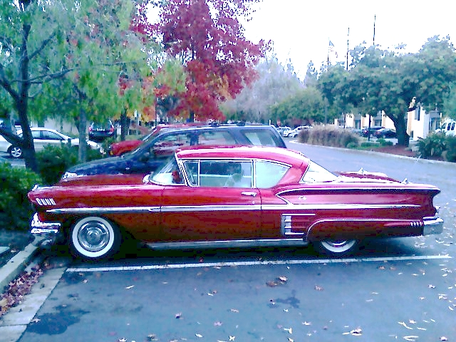 Bel Air Car >> Chevy Impala 1953? profile... | The dark red and rocket-ship… | Flickr