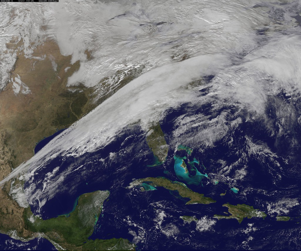 Satellite Sees A Sharp Line In Weather Today This NOAA GOE Flickr - Today satellite image of world