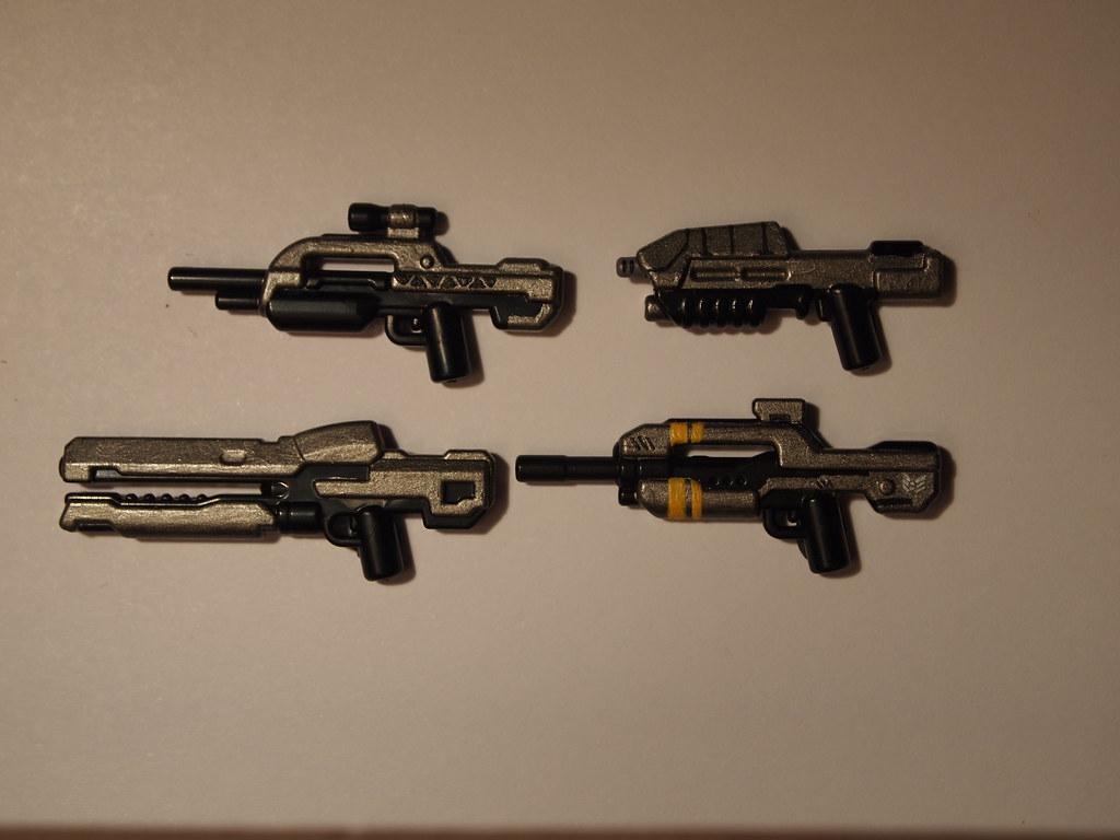 Как сделать из лего винтовка для человечков