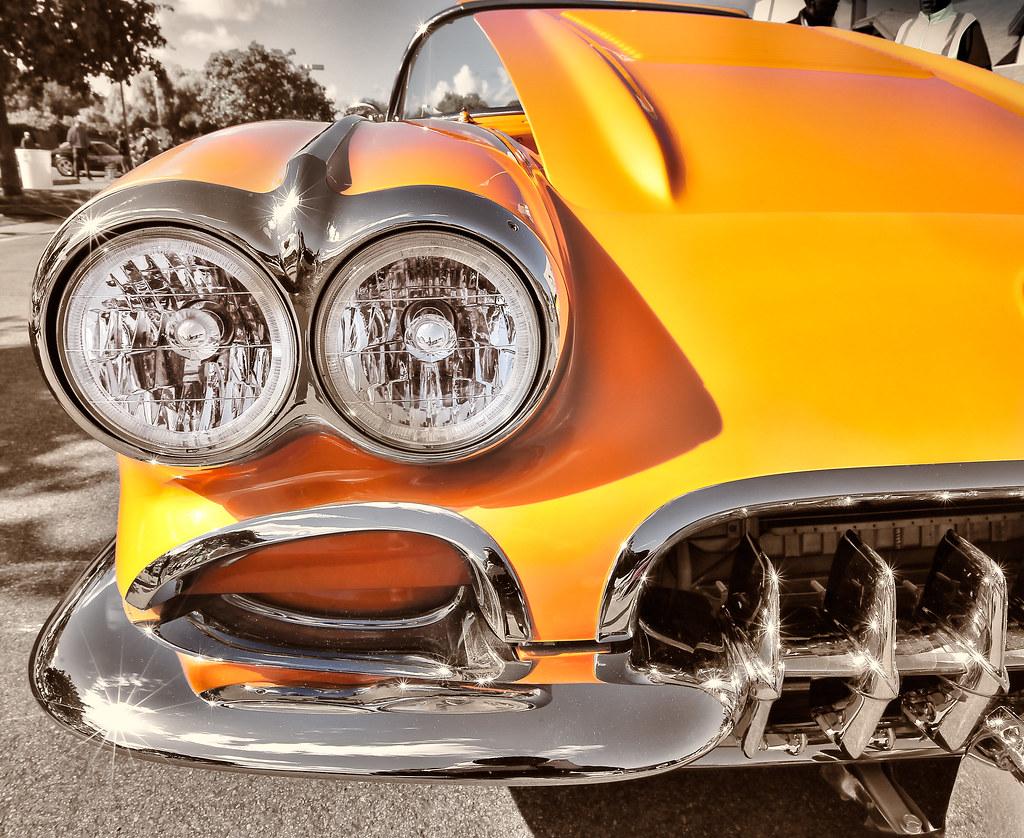 Old Corvette Headlights : Classic first generation c corvette chrome headlight