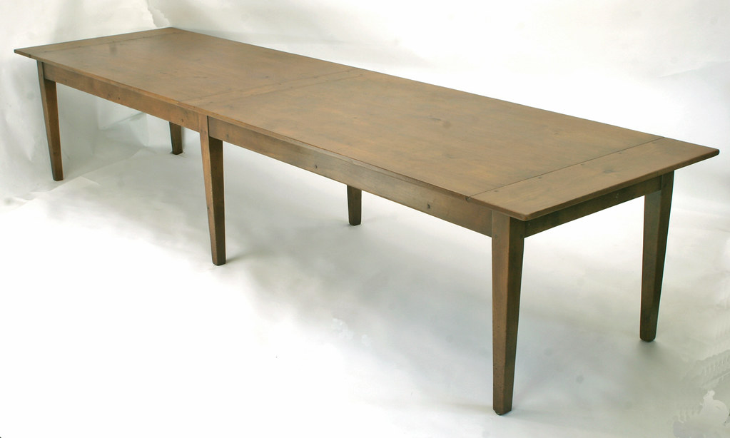 533 IMG_0872e Extra Long Farmhouse Table With Antique French Provincial  Finish | By Www.