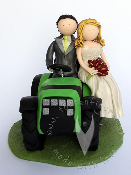 Brautpaar Am Traktor Tortenfiguren Flickr