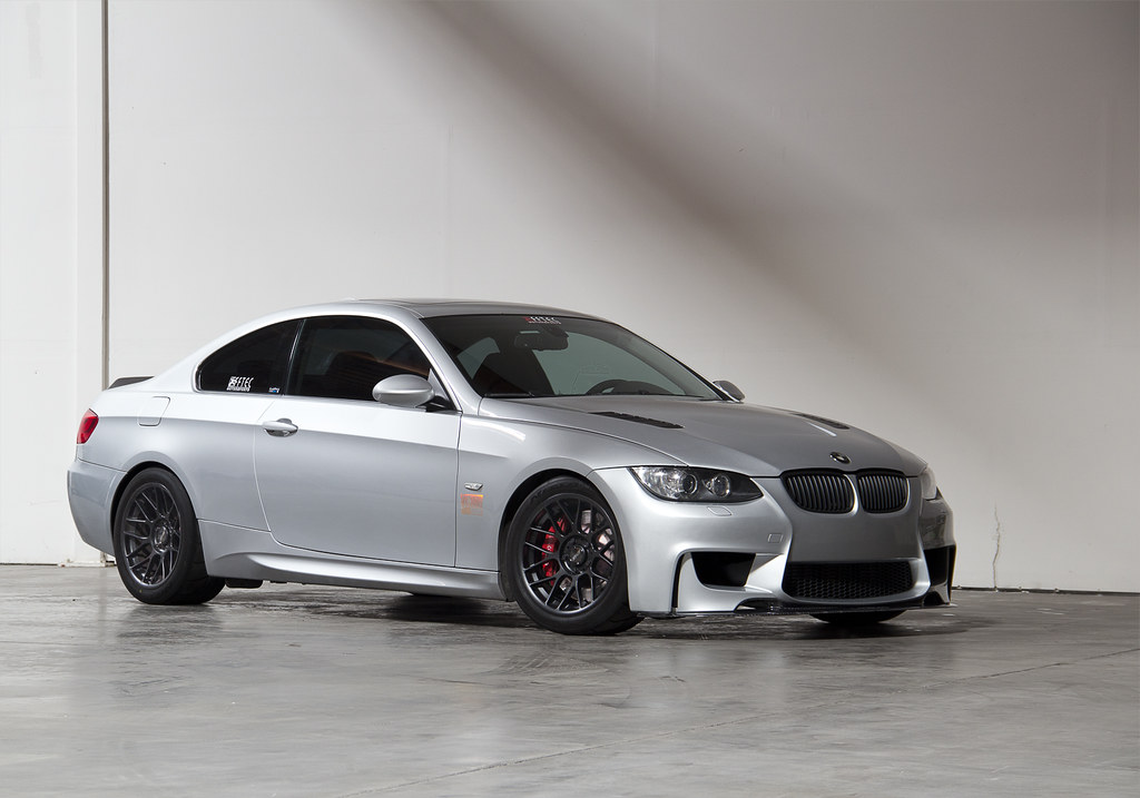 Arc 8 S On An E92 17x9 5 Quot Et35 Satin Black Arc 8 S With