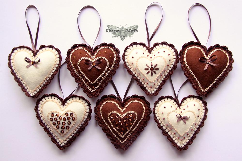 heart shaped felt ornaments 10 blogged shape moth blogs flickr