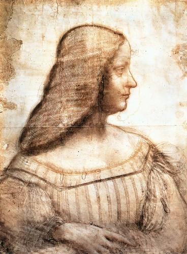 [ V ] Leonardo da Vinci - Isabella d'Este (c.1500)