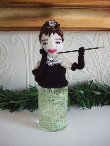 #AudreyHepburn #knitteddoll #weddingfavour my #copyright photo and knitted design | by Denise Salway