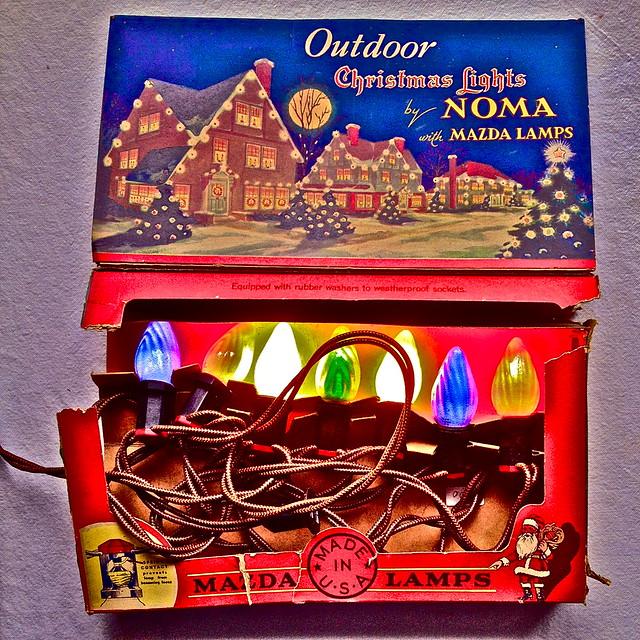 Vintage Christmas Light Decorations: Vintage Christmas Decor 1940s Noma Lites Lights With Box