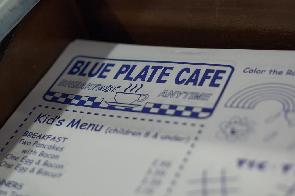 Blue Plate Cafe Breakfast Menu