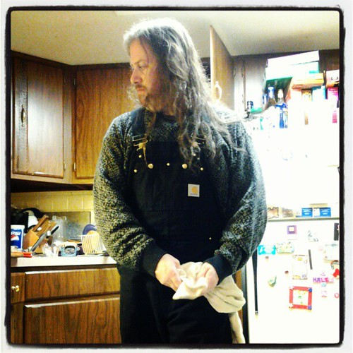 Cooking in Carhartt #Carhartt #overalls | by Jaquandor