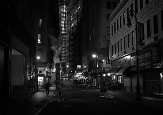 New York City Night - Street in the Financial District | by Vivienne Gucwa