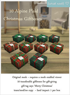 {what next} Alpine Plaid 10 Giftboxes Vendor | by What Next/Winter Thorn