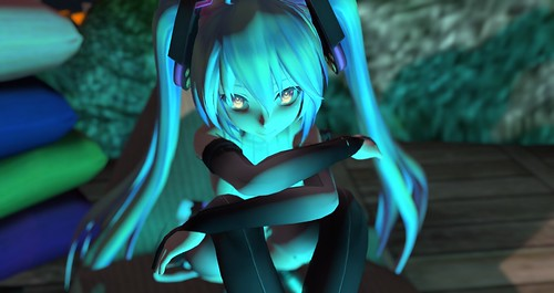 MMD Tda Miku in Secondife in the twilight | by Whitfield-In-World