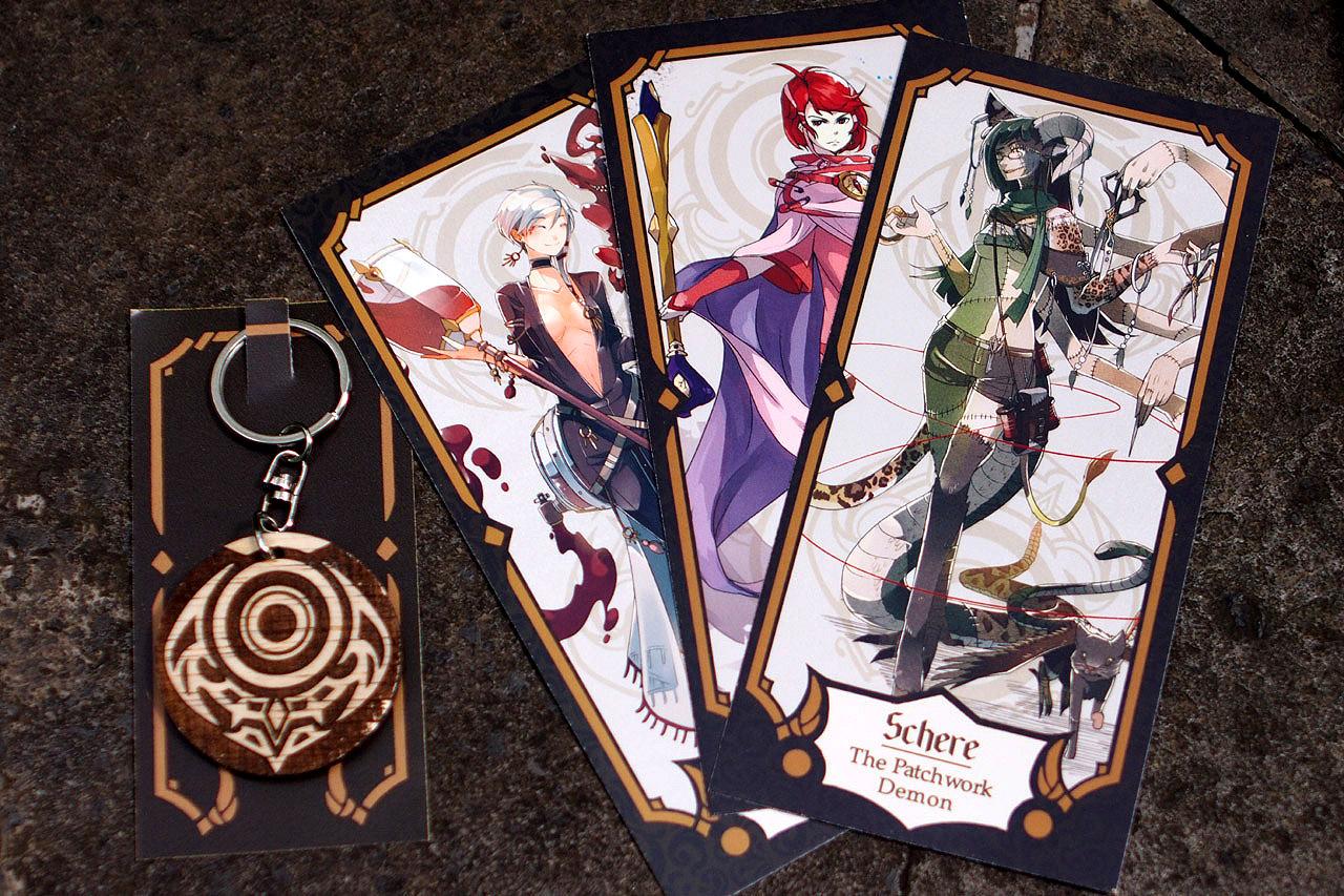 Wooden Key Chain & Tarot Card