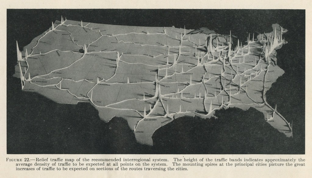 Relief Traffic Map Of The Recommended Interregional System Flickr - Us air traffic map
