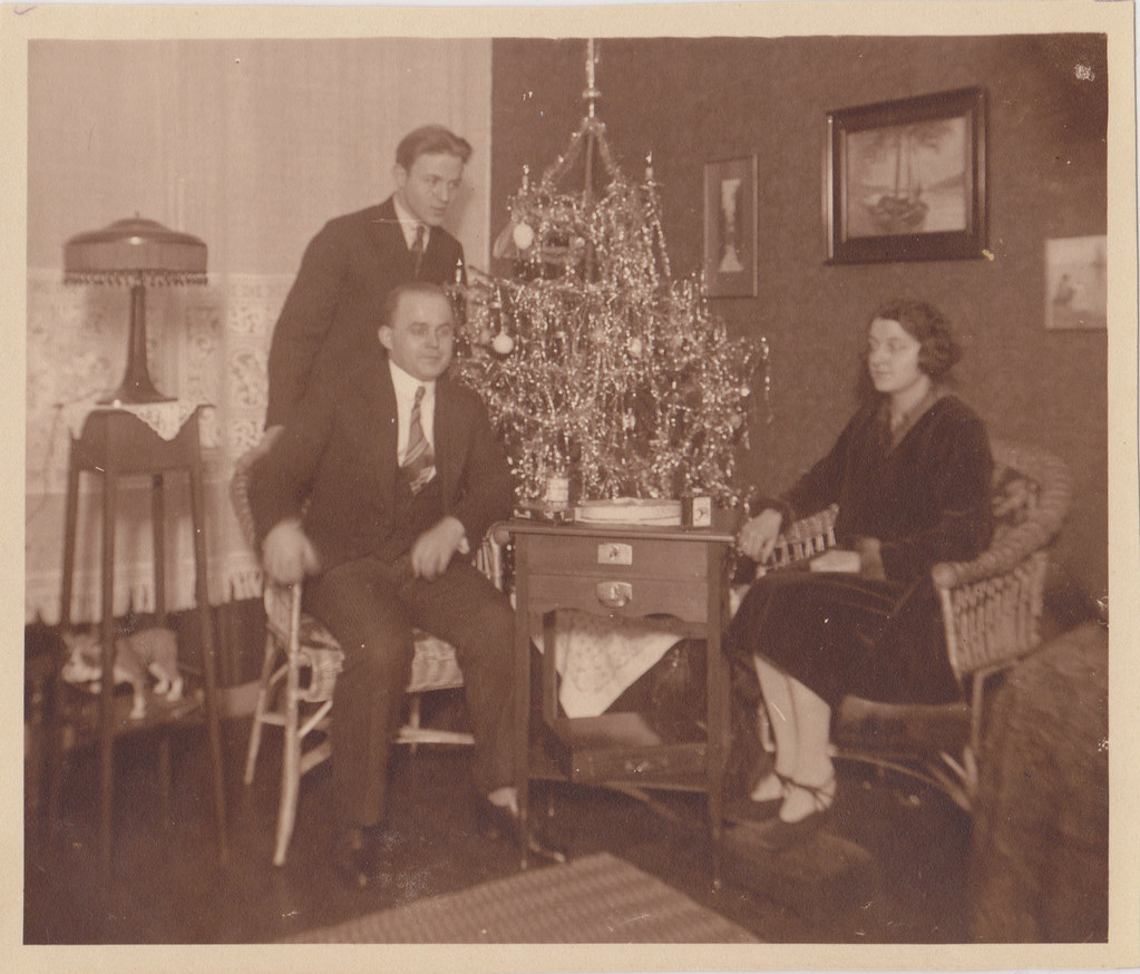 couple and their christmas tree (1930s)christmas | This is t… | Flickr