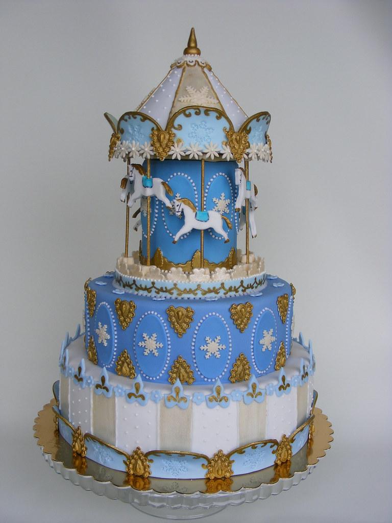 Carousel Cake Happy 1st Bday Gogo Историята на