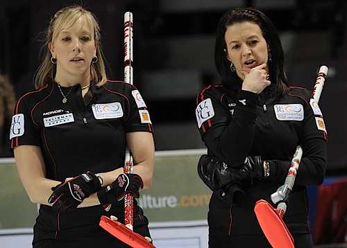Penticton B.C.Jan11_2013.World Financial Group Continental Cup.Team North America third Beth Iskiw,skip Heather Nedhoin.CCA/michael burns photo | by seasonofchampions