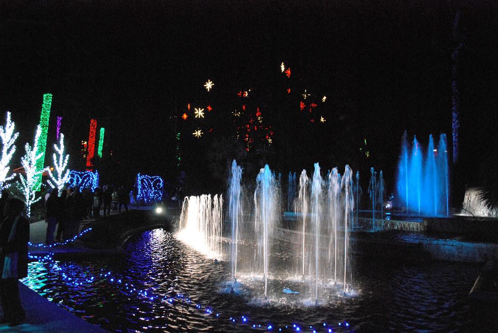 Christmas Lights Atlanta Botanical Gardens Fountain Flickr