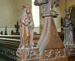 St Mary Magdalene and a female queen (inscribed VR)