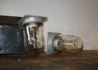 PAIR OF INDUSTRIAL CEILING MOUNT FIXTURES | by abb_christine