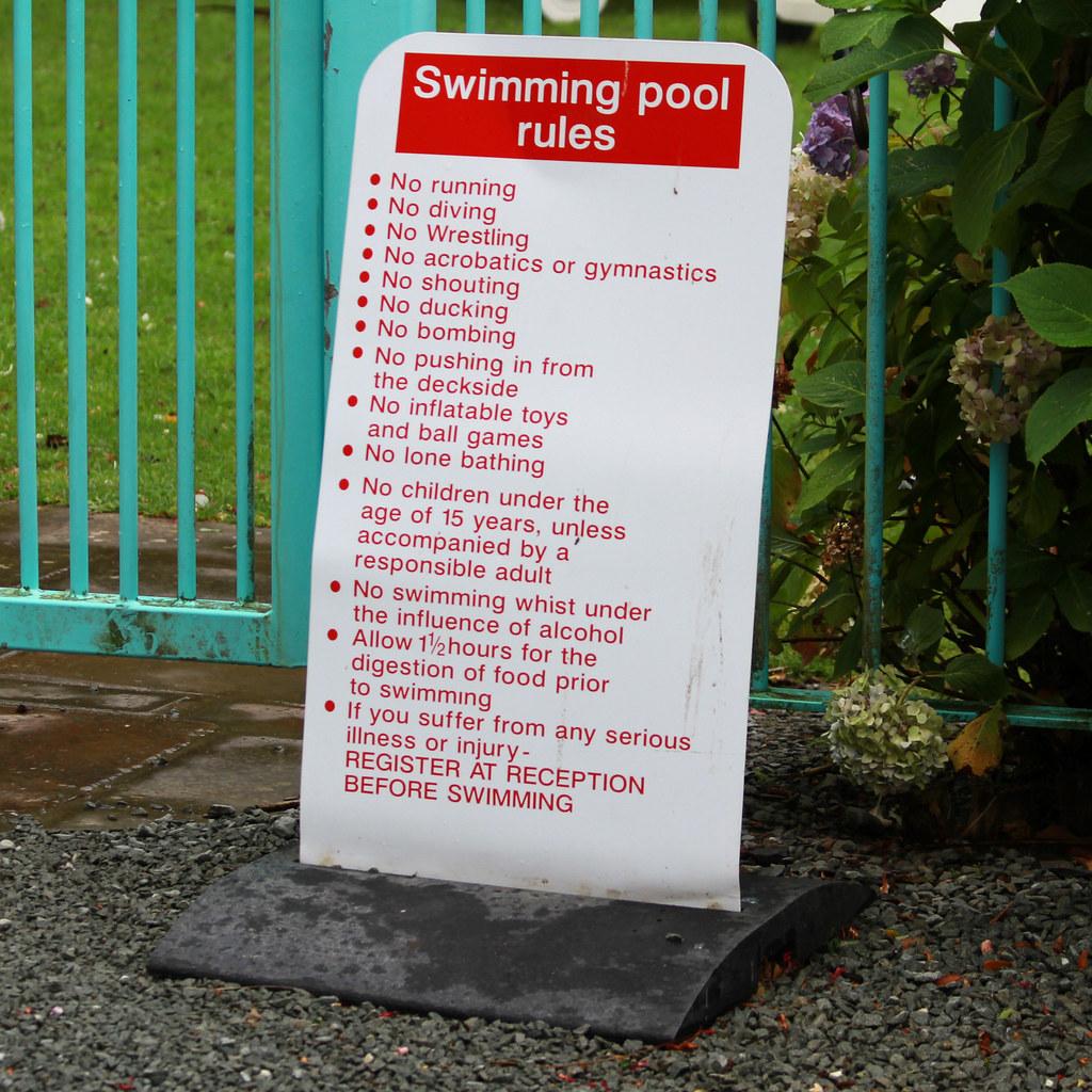 Swimming Pool Rules Portmeirion Penrhyndeudraeth Gwynedd Leo Reynolds Flickr