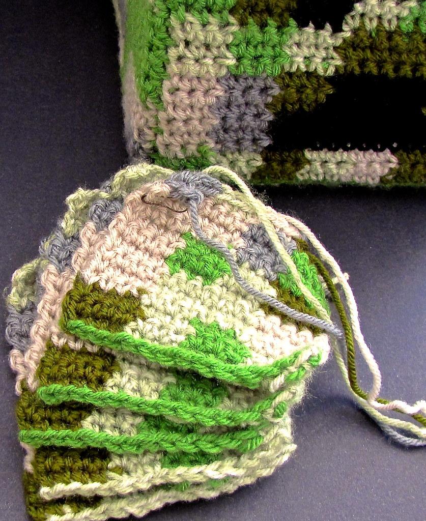 Crochet Minecraft Creeper 5 Of 8 Leg Panels Vashti Braha Flickr