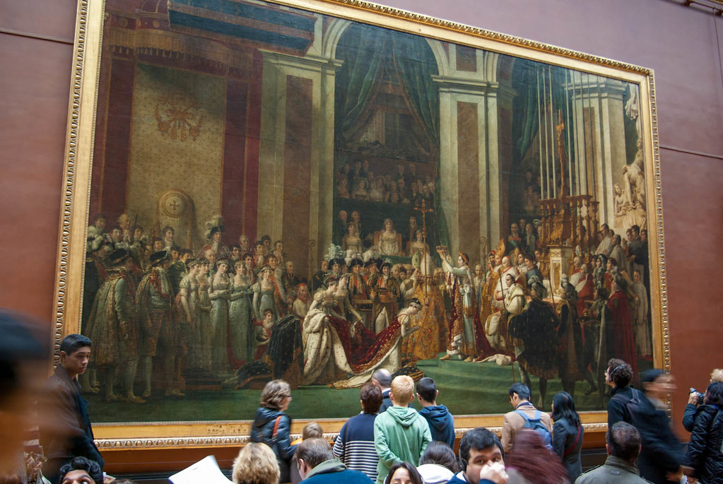 'The coronation of Napoleon' painting by David features in