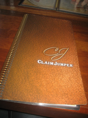 Claim Jumper Menu Chocolate Cake