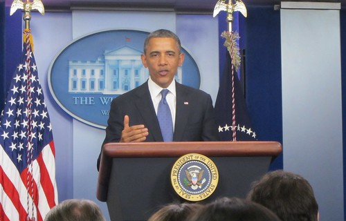 Obama speaking on the fiscal cliff at White House | by WilliamKoenig