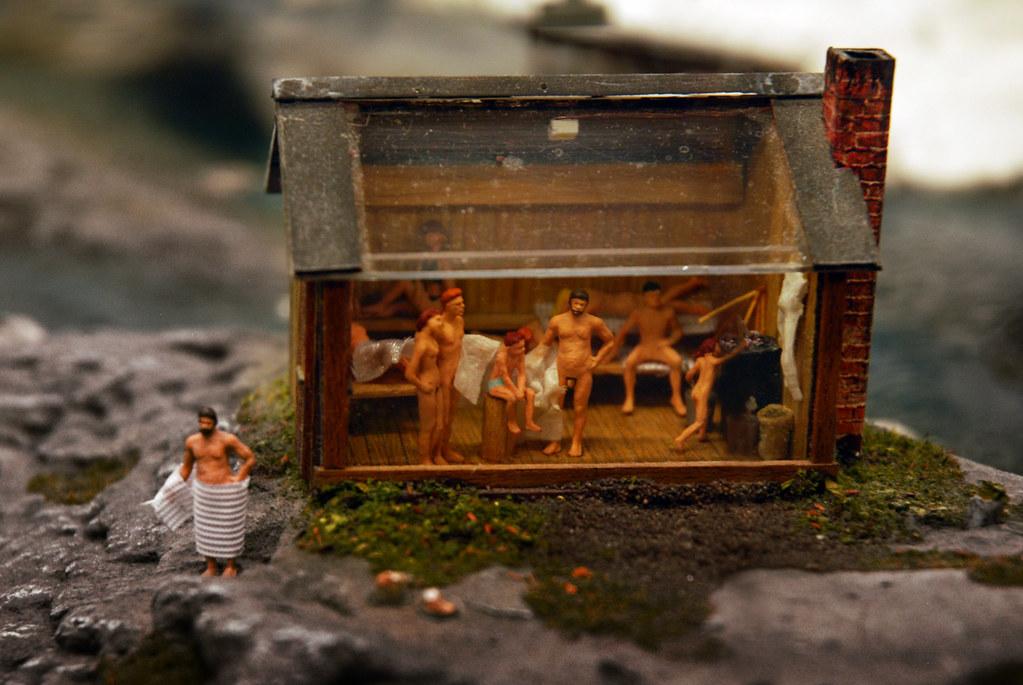 sauna miniaturwunderland paintpepper flickr. Black Bedroom Furniture Sets. Home Design Ideas