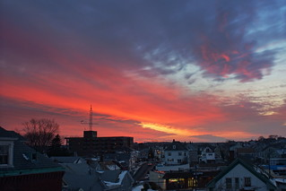 Gloucester sunset January 4 with street | by mehjg
