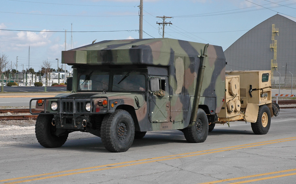 Marine Corps M997a2 With Integrated Trailer Ecu Generator