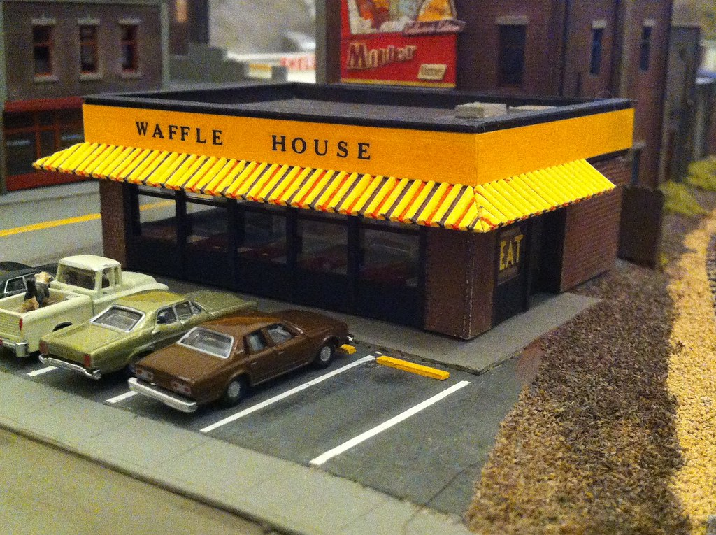 Waffle House N Scale Scratch Designed Built Using