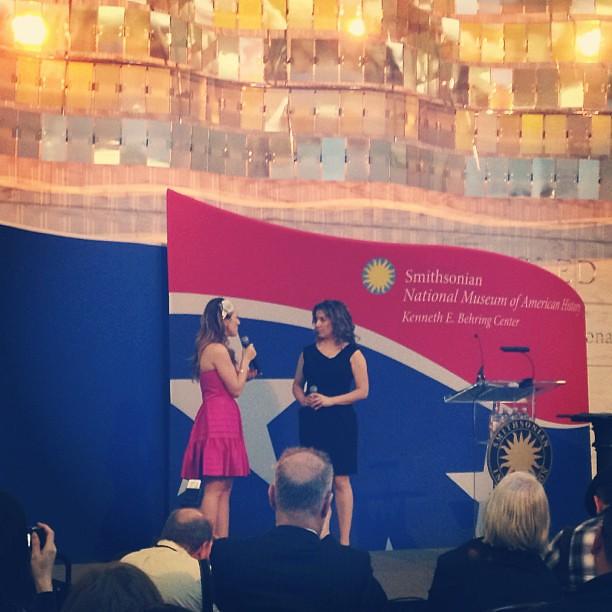 Tiffany Haas (Glinda) and Donna Vivino (Elphaba) perform ...