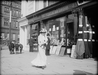 Striding along Sackville Street | by National Library of Ireland on The Commons
