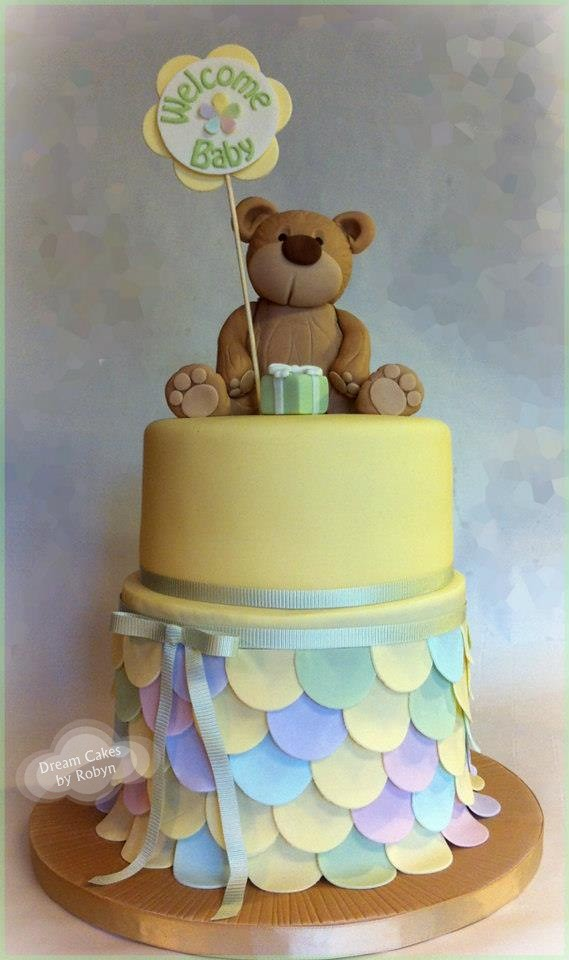Teddy Bear Baby Shower Cake www.facebook.com/#!/pages ...