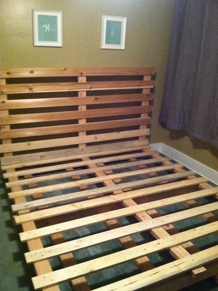 Diy crate bed for Paul s garden studios