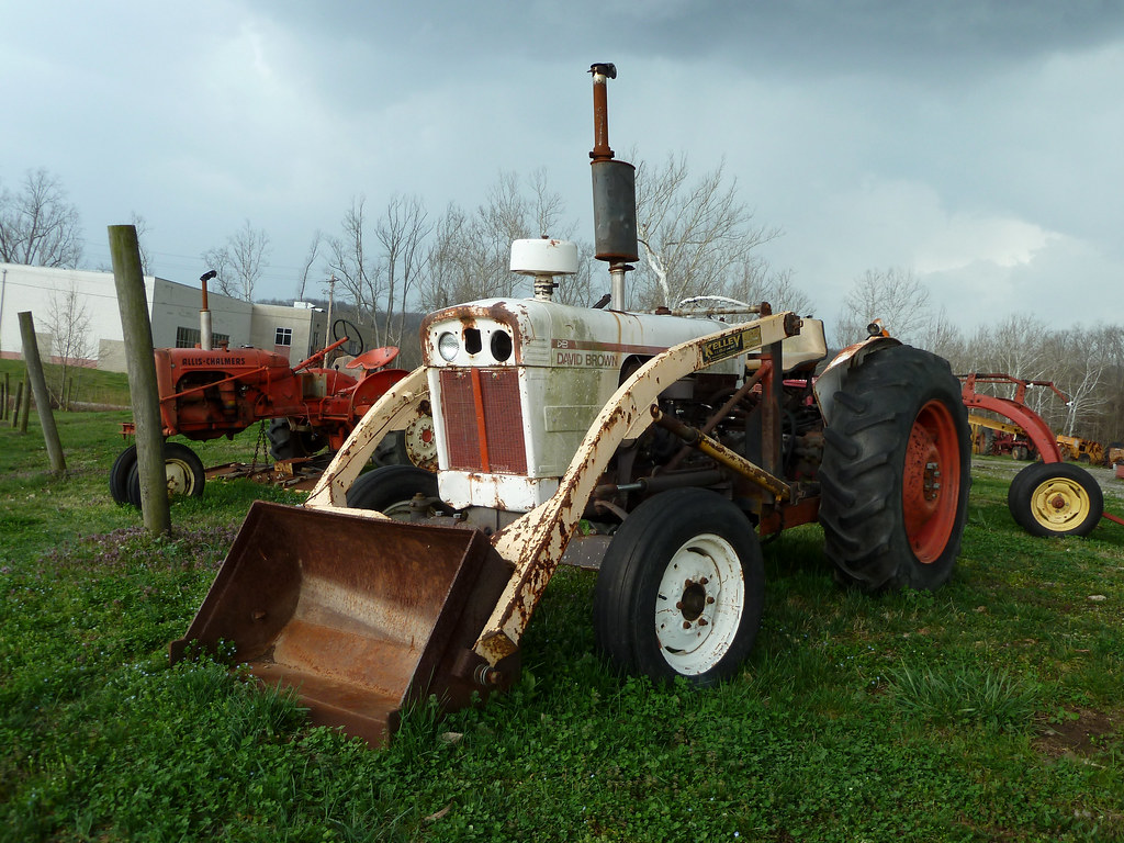 Tractor Front Loader Parts : David brown tractor with front loader antique