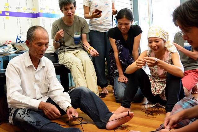 老漁夫可謂台灣漁業史上的國寶,溪伯分享浮球史。圖片來源:黑潮101漂流計畫。
