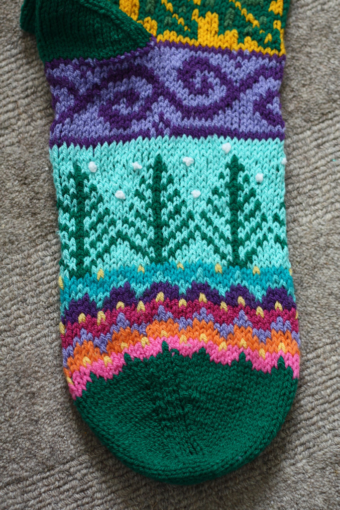 Free Knitting Pattern For Large Christmas Stocking : Knitted Christmas stocking Pattern: Spindleknitters stock? Flickr