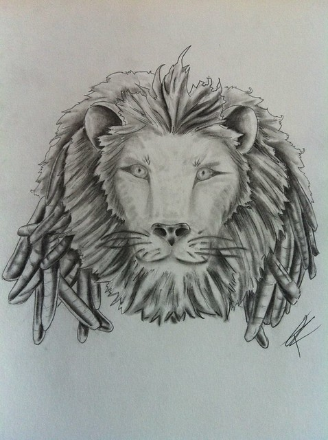 Lion with dreads tattoo drawings - photo#26