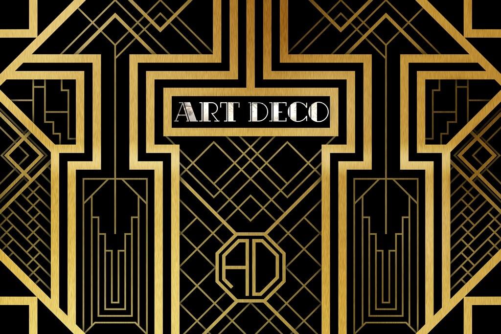art deco illustration an art deco style pattern inspired b flickr. Black Bedroom Furniture Sets. Home Design Ideas